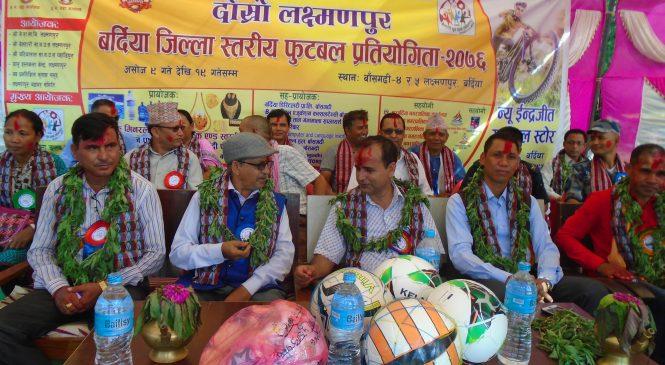 दोस्रो लक्ष्मणपुर जिल्ला स्तरिय फुटबल प्रतियोगिता, आयोजक टिमको बिजयी शुरुवात