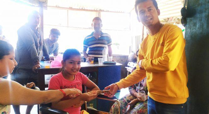 जन्मदिनको अवसरमा केसीद्वारा दुर्घटनाकी घाइतेलाई सहयोग