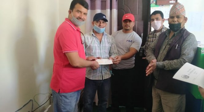 कोहलपुरका संस्थागत विद्यालयहरुको संगठन (क्रिसा) द्वारा विपद् कोषमा २१ हजार सहयोग