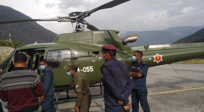 बाजुराबाट हेलिकोप्टर मार्फत उद्धार गरिएका बालकको नेपालगञ्जमा मृत्यु