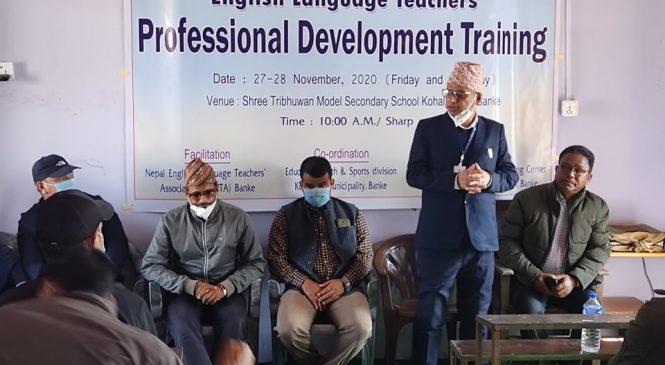 कोहलपुरका अंग्रेजी भाषा शिक्षकहरुका लागि पेशागत क्षमता विकास तालिम