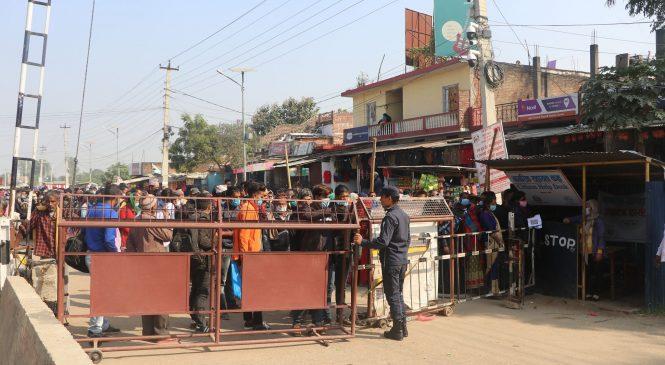 सीमामा भारत पस्नेको लर्को