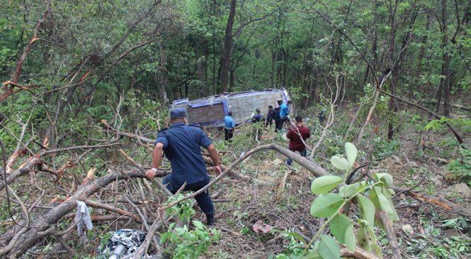 मुगु बस दुर्घटना अपडेटः २४ जनाको घटनास्थलमै मृत्यु, १४ घाइते