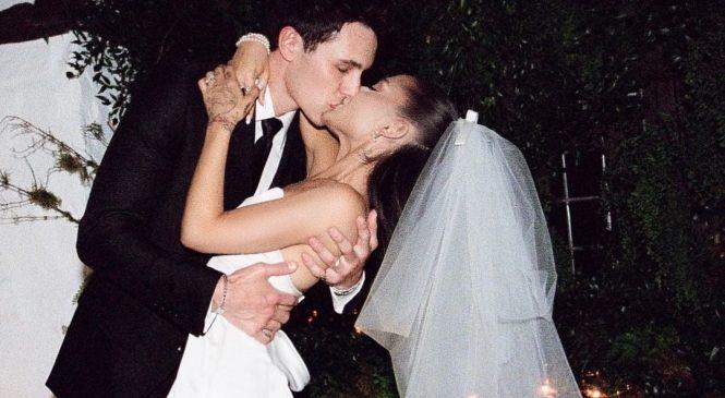 विश्व विख्यात संगीतकर्मी आरियाना ग्रान्डेले सार्वजनिक गरिन् विवाहको तस्बिर
