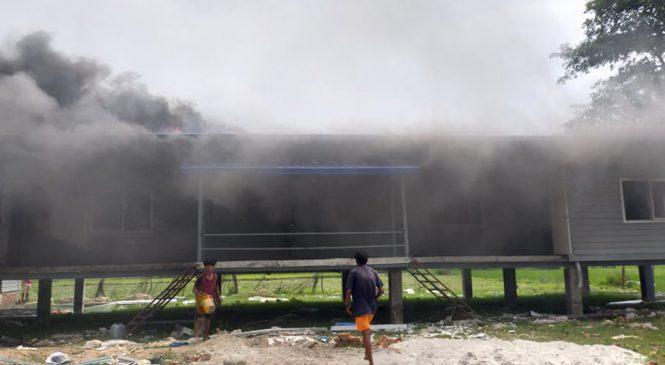 मोहना नदी पारी रहेको सशस्त्रको बिओपीमा आगजनी