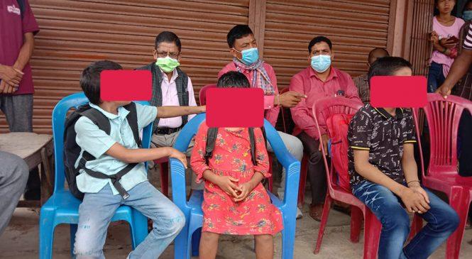 कोहलपुरबाट हराएका ३ बालबालिकाको भारतबाट उद्धार